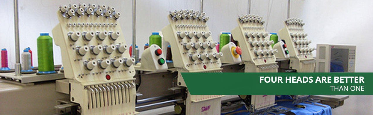 Four Embroidery Machines